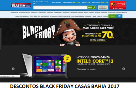 DESCONTOS BLACK FRIDAY CASAS BAHIA 2017